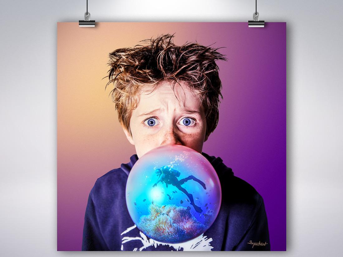 Poster Bubble sea